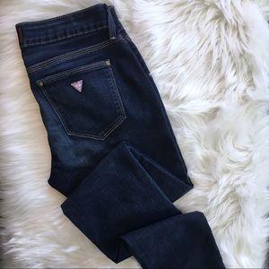 GUESS | Medium Rise Sienna Curvy Skinny Dark Jeans